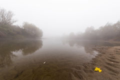 Fog and mist on a wild river Stock Photo