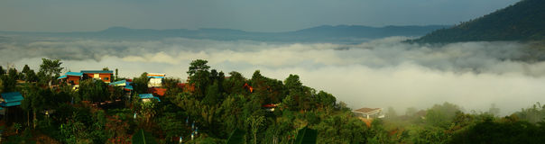 Fog morning Khao Kho National Park Thailand Stock Photography
