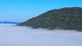 Fog in the morning with mountain at Khao Kho, Phetchabun, Thailand stock video footage