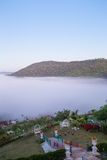 Fog in the morning with mountain at Khao Kho, Thailand Royalty Free Stock Photo
