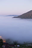 Fog in the morning with mountain at Khao Kho, Thailand Stock Image