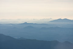 Fog on mountain. At viewpoint in national park image Royalty Free Stock Photography