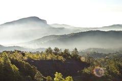 Fog on the mountain Stock Image