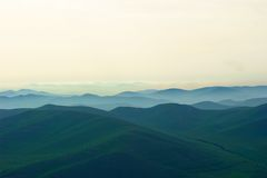 Fog on mountain Stock Photography