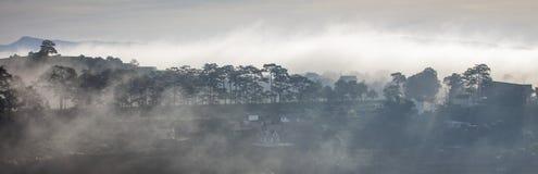 Fog in mountain, Da Lat city Stock Images