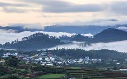 Fog in mountain, Da Lat city Royalty Free Stock Photography