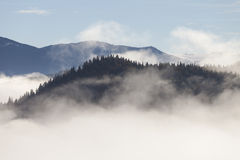 Fog on the mountain Royalty Free Stock Images
