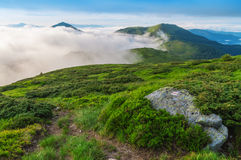 Fog in the mountain Royalty Free Stock Photo