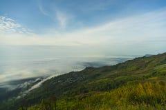 Fog and mountain nature beautiful landscape.  Stock Photo