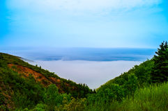 Fog on a mountain side. Beautiful Image of fog on a mountain side, which was taken in Cape Breton on my travels their Royalty Free Stock Photos