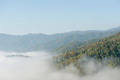 Fog and mountain Royalty Free Stock Photography