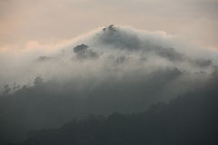 Fog on the mountain. In thailand Stock Image