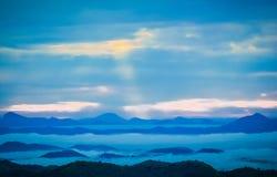 Fog and mountain Stock Photos