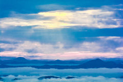 Fog and mountain Royalty Free Stock Images