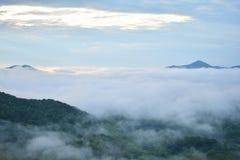 Fog Mountain Royalty Free Stock Photography