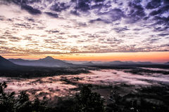 Fog Mountain in Thailand. Fog Mountain in Loei, Thailand stock image