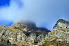 Fog on mountain Tzoumerka, Greece Royalty Free Stock Images