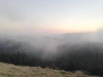 Fog on the mountain. USA Royalty Free Stock Image