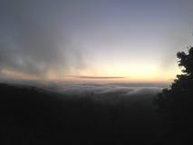 Fog on the mountain. USA Royalty Free Stock Photos