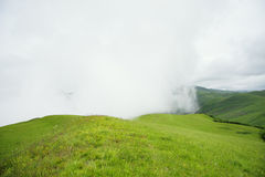 Fog in mountains Royalty Free Stock Images