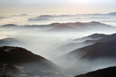 Fog and mountains Royalty Free Stock Images