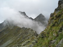 Fog on the mountains Stock Photography