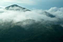 Fog in the mountains. Morning fog in the mountains Stock Photography