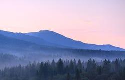 Fog in mountains Stock Photo