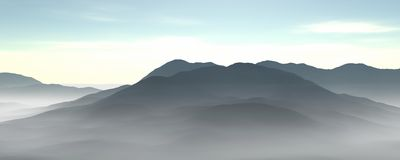 Fog and mountains Royalty Free Stock Photography