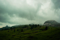 Fog in mountains, Italy Royalty Free Stock Image