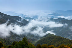 Fog in the mountains Stock Image