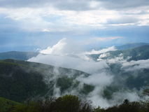 Fog in the mountains Royalty Free Stock Photos