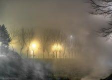 Fog at night Stock Photography