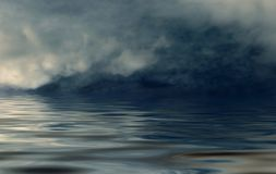 Fog on open sea stock photography