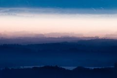 Fog over Bavarian Alps Royalty Free Stock Photos