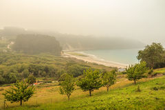 Fog over the bay. Royalty Free Stock Photo