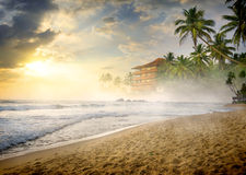 Fog over beach Stock Photography