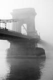 Fog over bridge stanchion Stock Image