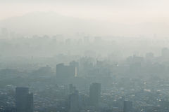 Fog over city Stock Photos