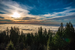 Fog. Over the city of Vancouver bc Canda Royalty Free Stock Image