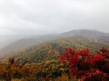 Fog over Crimean mountains Stock Photography