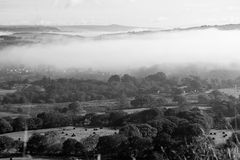 Fog Over English Countryside Royalty Free Stock Photography