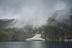 Fog Over The Eye lake, The Seven Rila Lakes Royalty Free Stock Image