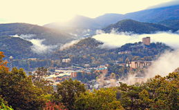 Fog over Gatlinburg Royalty Free Stock Images