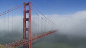 Fog over the golden gate bridge. Time lapse view clip of fog moving over Golden Gate Bridge, San Francisco, U.S.A stock footage