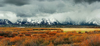 Fog Over the Grand Tetons Royalty Free Stock Image