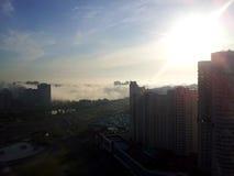 Fog over Kiev Royalty Free Stock Photos
