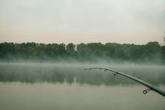 Fog over the lake Royalty Free Stock Photo