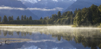 Fog over lake Royalty Free Stock Images