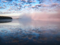 Fog over lake Stock Photography